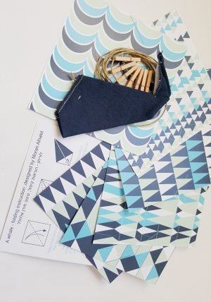ערכת יצירה ובה 6 דפי אוריגמי בהדפסים יפים לקיםפול לוויתנים ובנוסף לוייתן בד פשתן אחד בצבע לבחירה. ערכת יצירה לילדים, ערכות קיפול, אוריגמי לילדים. מתנה לחג לילדים. מורן אלחלל אוריגמי בד.
