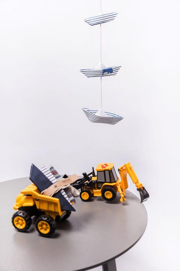 גרלנדות סירות אוריגמי בד, 3 סירות אוריגמי מעוצבות לעיצוב חדר ילדים, לעיצוב הבית, קישוט לקיר, מתנות לבית חדש, מתנות ליום הולדת, מורן אלחלל אוריגמי בד