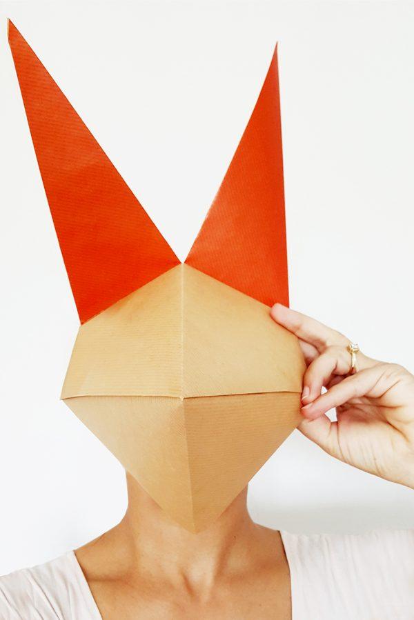 משלוח מנות מעוצב, מסיכת שועל אוריגמי, נייר קראפט חום, משלוח מנות לפורים, משלוח מנות מעוצב, מסיכה לפורים, מסיכת שועל, משלוח מנות מקורי, יצירה לילדים, מורן אלחלל