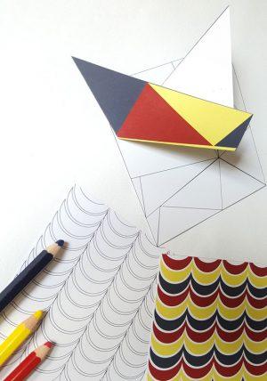 ערכת אוריגמי לקיפול ולצביעה, ערכת אוריגמי סירת מפרש, ניירות אוריגמי מעוצבים, קיופלי נייר, ערכה לבית מארח, יום הולדת אוריגמי. מורן אלחלל אוריגמי בד