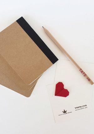 כרטיס ברכה מעוצב, כרטיס אוריגמי, אוריגמי בד,לב אדום, אגרות ברכה, עיצוב לאירועים, כרטיסי הושבה, מורן אלחלל אוריגמי בד