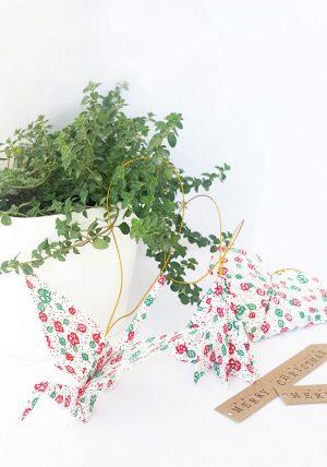 סט קישוטם, תלייה דקורטיבית, קישוטים לכריסמס, עץ חג המולד, אוריגמי אקססוריז, אוריגמי בד, לב אוריגמי, עגור אוריגמי, ירוק אדום ולבן, מורן אלחלל אוריגמי בד