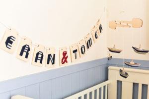 עיצוב חדרי ילדים, מתנות לידה, סטיילינג לחדר ילדים, חדר בנים מעוצב, חדר בנות, חדר משותף, אותיות מעוצבות, מובייל לתינוק, עיצוב ימי, מורן אלחלל אוריגמי בד